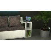 Couchtisch mit Ablagefächer Nachto-Stand, Weiß - Weiß, Basics, Holzwerkstoff (40/30/63cm) - Livetastic