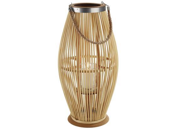 Lampáš Bao - prírodné farby, Moderný, drevo (28/59cm)