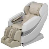 Massagesessel Ms1000 Beige, Weiß - Beige/Weiß, Basics, Leder/Kunststoff (154/113/76,5cm)