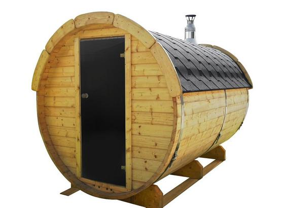 Saunafass Sf3.0 3m - Naturfarben, Design, Holz (190/190/300cm)