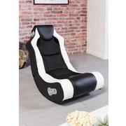 Gamingstuhl Booster B: 56 cm Weiß/Schwarz - Schwarz/Weiß, Design, Textil (56/100/82cm) - Carryhome