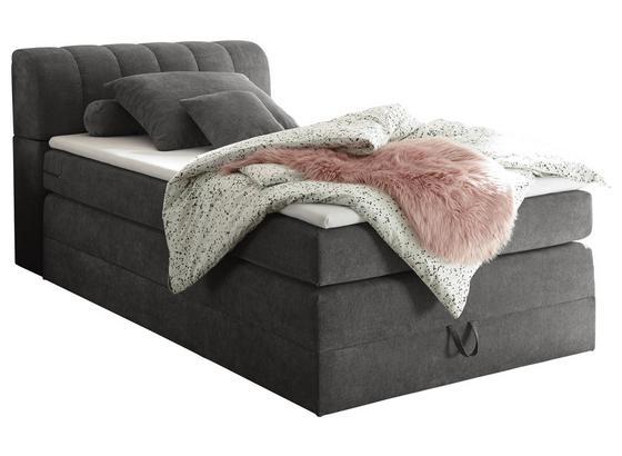 Boxspringbett mit Bettkasten& Topper 120x200cm Bilbao, Grau - Grau, KONVENTIONELL, Holzwerkstoff/Textil (120/200cm) - Carryhome