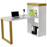 Písací Stôl Organizer - biela, Štýlový, kompozitné drevo (140/114/63,8cm) - Premium Living