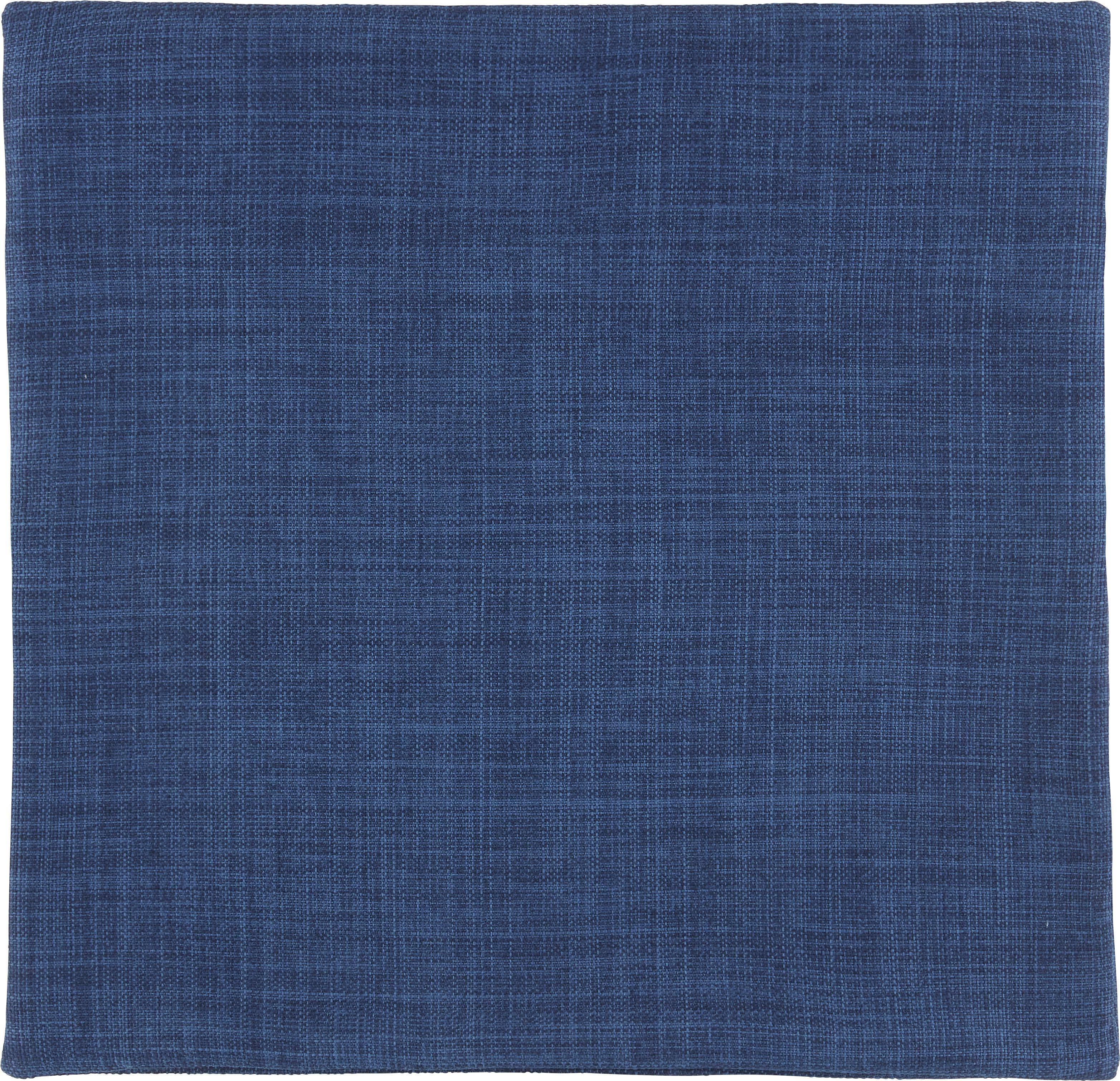 Povlak Na Polštář Leinenoptik - tmavě modrá, textil (40/40cm) - MÖMAX modern living