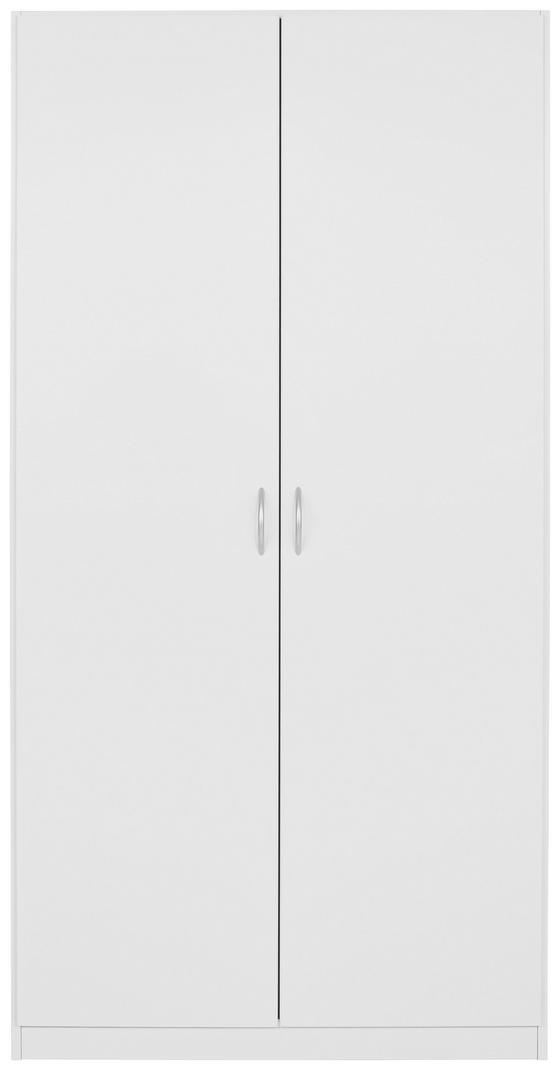 Drehtürenschrank Karo 2trg - Weiß, KONVENTIONELL, Holz/Holzwerkstoff (91/197/54cm)
