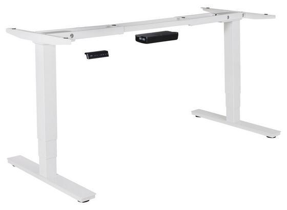 Tischgestell Höhenverstellbar B 105-182cm Stahl Weiß - Weiß, Basics, Metall (105/70/63cm) - Livetastic