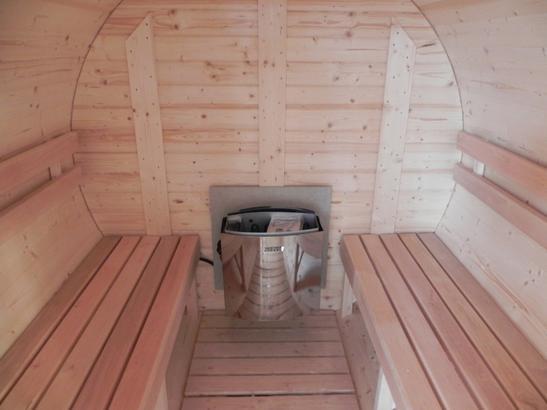 Saunafass mit stufenlos regulierbarem Ofen