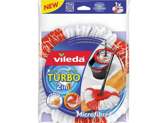 Wischbezug Vileda Easywring&clean Turbo - Rot/Weiß, KONVENTIONELL, Textil (22/30/5,5cm) - Vileda