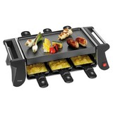 Trisa Raclette-Grill Racletto Sei - Schwarz, KONVENTIONELL, Kunststoff/Metall (41/8/19cm)