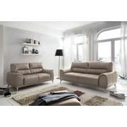 Fernsehsessel Frisco - Sandfarben/Chromfarben, MODERN, Textil (112/92/96cm)