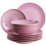 Tafelservice Ossia 12-Tlg - Pink, Basics, Keramik - Mäser