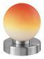 Tischleuchte Jolanda - Rot/Orange, KONVENTIONELL, Glas/Metall (12/14,8cm) - Ombra
