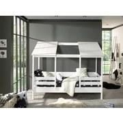 Hausbett Housebed 90x200 cm Weiß - Weiß, KONVENTIONELL, Holzwerkstoff (90/200cm) - MID.YOU