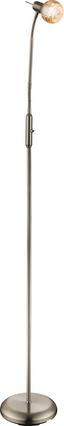 Stehleuchte Zacate - Silberfarben, MODERN, Glas/Metall (51/154cm)