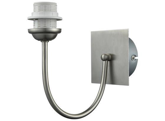 Nástěnné Svítidlo Walli V: 19,8cm, 60 Watt - barvy niklu, kov (19,8/19,8cm) - Mömax modern living