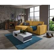 Sedací Souprava V L-formě Tommy 167x265 Cm - žlutá/šedohnědá, Lifestyle, dřevo/textil (167/265cm) - Luca Bessoni