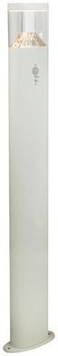 LED-Außenleuchte Accor - Klar/Weiß, MODERN, Kunststoff/Metall (18/8/100cm)