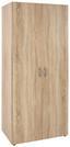Skříň Šatní Base 2 - barvy dubu, Konvenční, kompozitní dřevo (80 177 52cm)