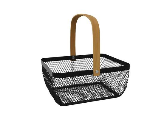 Korb Lovis - Creme/Schwarz, Basics, Metall (23,5/18,5/10cm) - Luca Bessoni