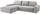 Wohnlandschaft L-form Adria 213x308cm - Hellgrau, MODERN, Textil (213/308cm) - Luca Bessoni
