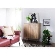 Sideboard B: ca. 72 cm Braun/Goldfarben - Goldfarben/Braun, Design, Holz (72/92/45cm) - Carryhome
