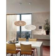 Hängeleuchte Campilo H: 110 cm 1-Flammig mit Textilfaser-Nest - Weiß, MODERN, Kunststoff/Textil (45cm)