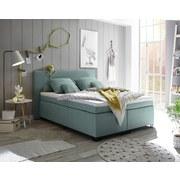 Boxspringbett Sunrise 1 ca. 140x200 cm - Schwarz/Mintgrün, Basics, Holzwerkstoff/Textil (140/200cm) - Carryhome
