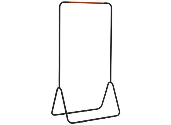 Kleiderständer Scandic Iv 80cm Schwarz - Schwarz, MODERN, Kunststoff/Metall (80/145/44cm)