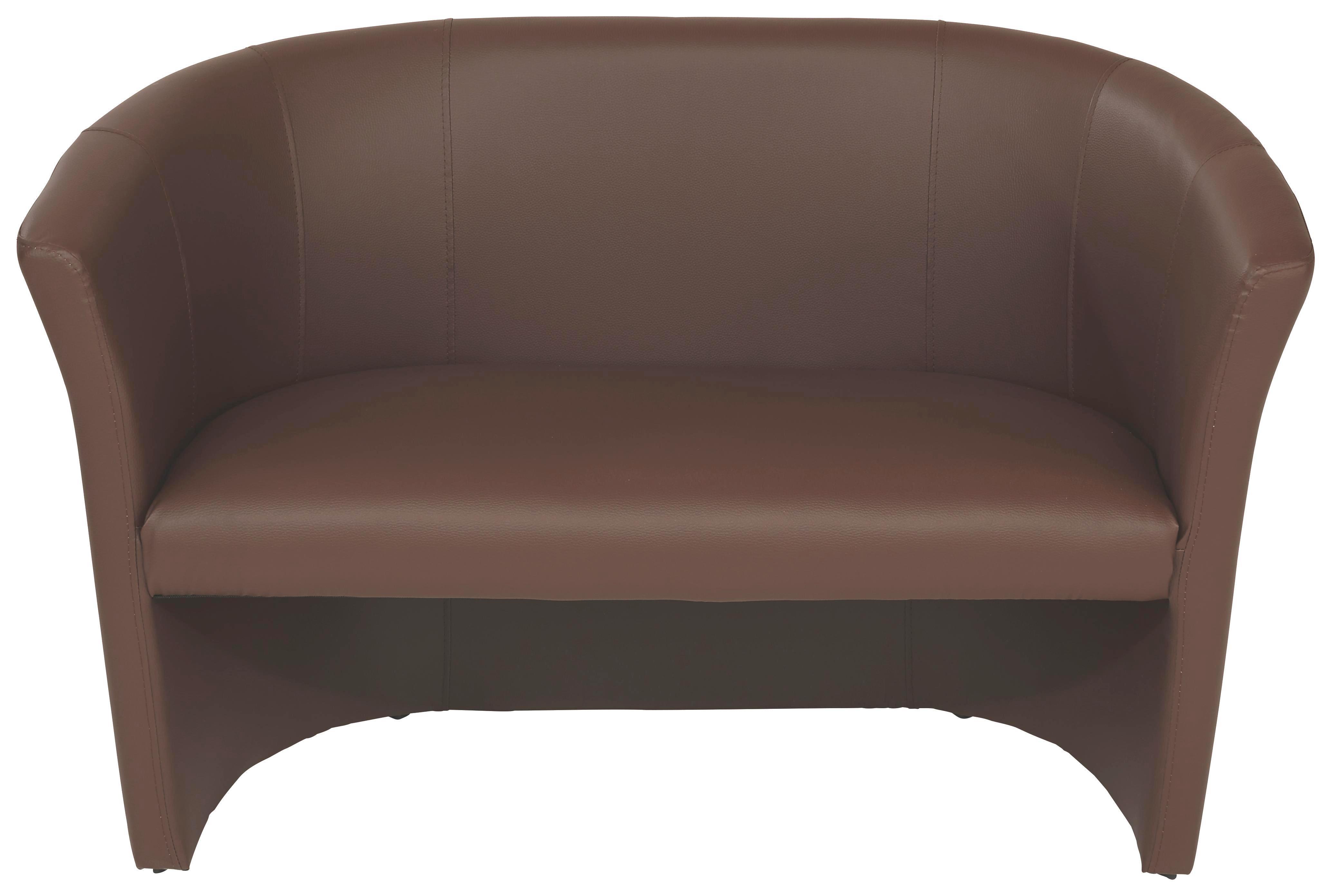 Dvoumístná Pohovka Hugo Duo - hnědá, Moderní, textil (118/76/59cm) - OMBRA
