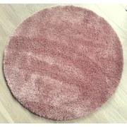 Hochflorteppich Hf Nobel Micro Coral 120 Rund - Rosa, MODERN, Textil (120cm)