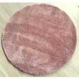 Hochflorteppich Nobel Micro 120 Rund - Rosa, MODERN, Textil (120cm)
