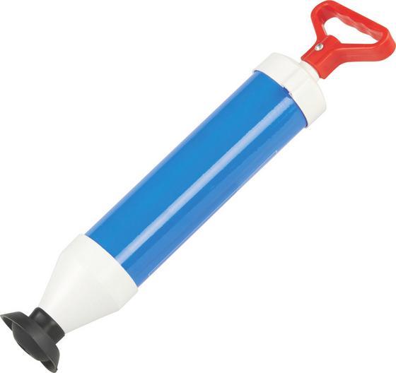 Ausgussreiniger mit Handpumpe - Blau/Rot, KONVENTIONELL, Kunststoff (38cm)