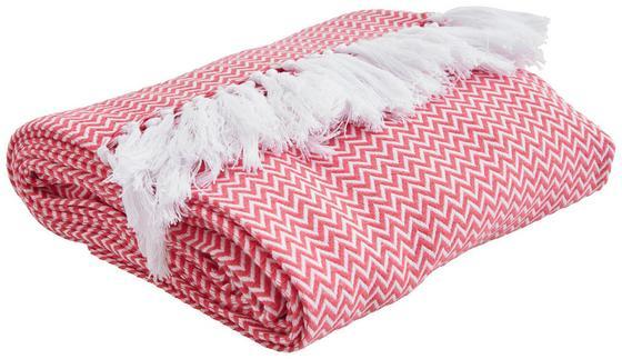Prikrývka Na Posteľ Zac - ružová, textil (140/200cm) - Mömax modern living