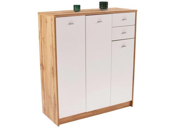Komoda 4-you New Yuk09 - bílá/barvy dubu, Moderní, kompozitní dřevo (109,1/111,4/34,6cm)