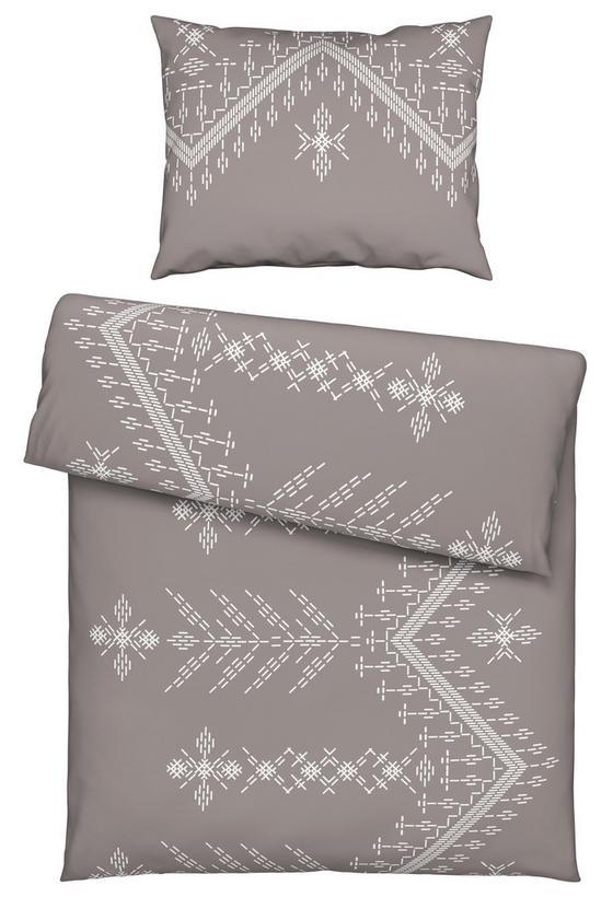 Povlečení Britta - šedá/jadeitová zelená, Moderní, textil (140/200cm) - Mömax modern living