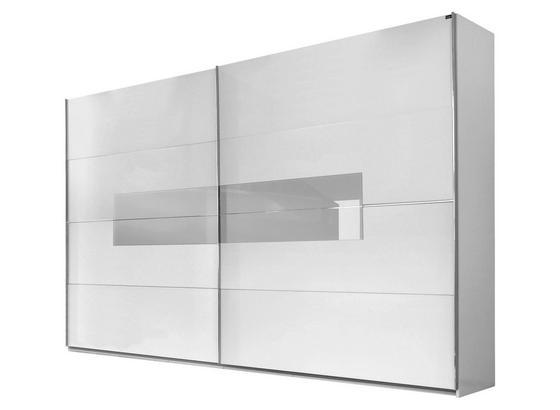 Schwebeturenschrank Advantage B 250cm Weiss Dekor Glas
