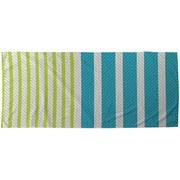 Strandtuch Leandra - Blau/Grün, MODERN, Textil (75/150cm) - Luca Bessoni
