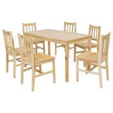 Tischgruppe Emil - Kieferfarben, Basics, Holz (120/73/65cm) - Carryhome