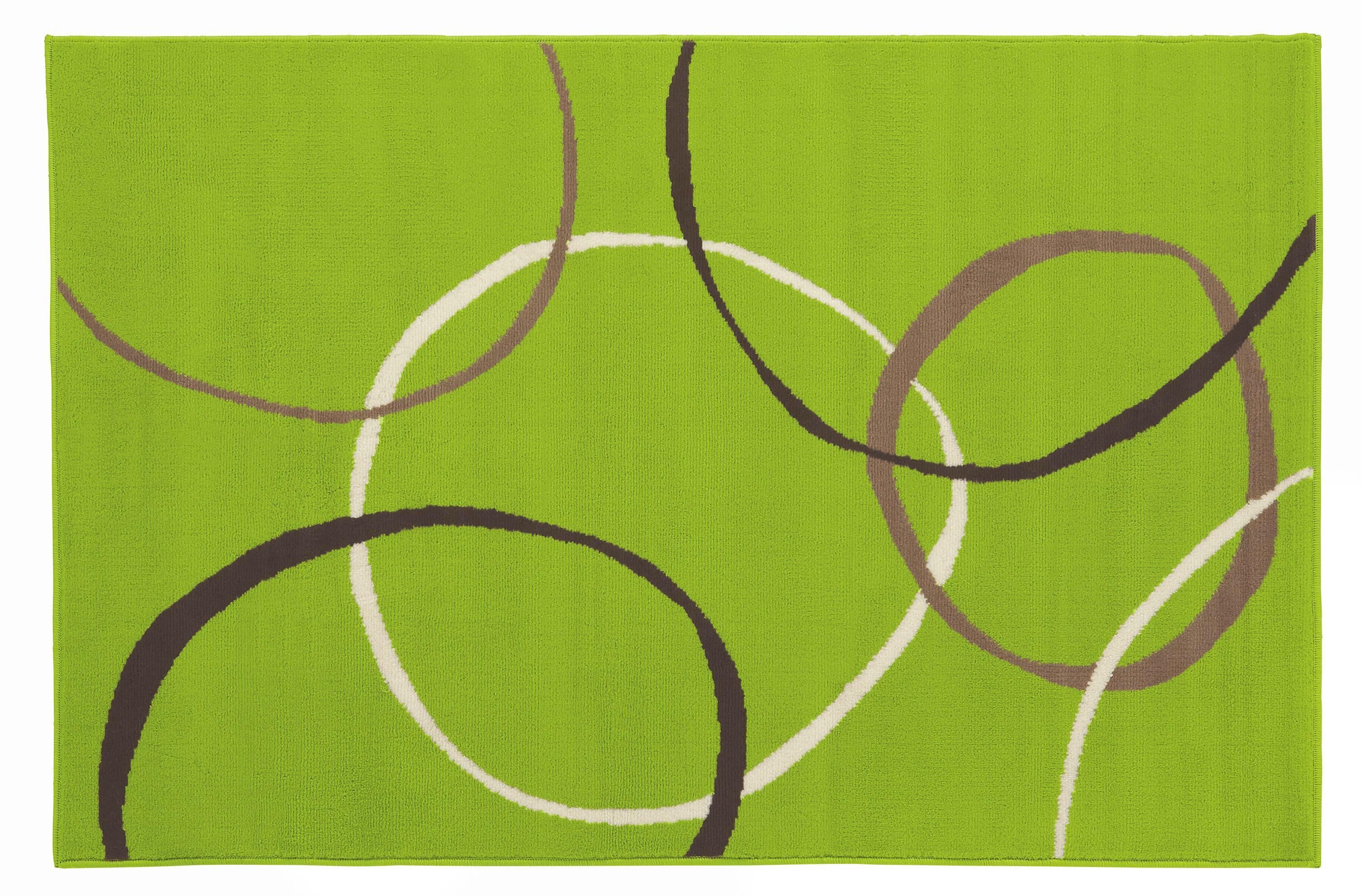 Szőnyeg Lime - zöld, konvencionális, textil (100/160cm)
