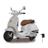 Kindermotorrad Ride-On Vespa Gts 125 Weiß - Silberfarben/Schwarz, Basics, Kunststoff (101/45,5/76cm)