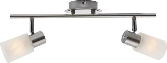 Strahler Elke - Chromfarben/Weiß, KONVENTIONELL, Glas/Metall (41,5cm) - Ombra