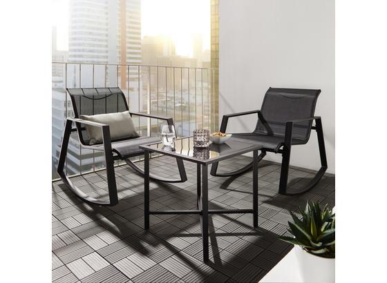 Záhradná Sada Mandy - čierna, Moderný, kov/textil - Modern Living
