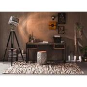 Schreibtisch Faro B: 145 cm Recyclingholz - Multicolor/Schwarz, Basics, Holz/Metall (145/76/70cm) - MID.YOU