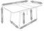 Rozkadací Stôl Vivian - farby dubu, Moderný, kov/drevo (140-180/90/76cm) - Mömax modern living