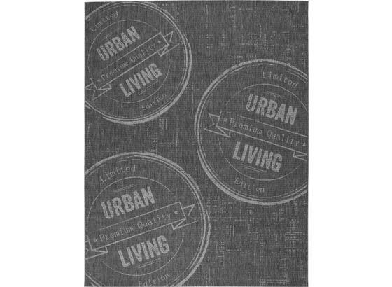 Koberec Tkaný Na Plocho Urban Living 1 - antracitová, Lifestyle (80/200cm) - Mömax modern living