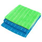 Mikrofasertuch 3er Packung - Blau/Grün, KONVENTIONELL, Textil (30/35cm) - Ombra