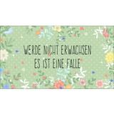 Dekopaneel Es Ist Eine Falle.. - Grün, MODERN, Holzwerkstoff (15/27cm)