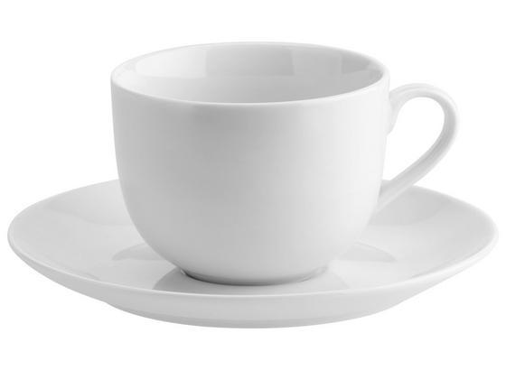 Šálek Na Kávu S Podšálkem Nancy - bílá, Moderní, keramika (0,21l) - Mömax modern living