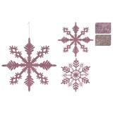 Dekohänger Schneeflocke 'ruby' - Altrosa/Rosa, MODERN, Kunststoff (28cm)