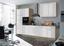 Küchenleerblock Laurel 310cm Eiche/Weiß - Weiß/Sonoma Eiche, KONVENTIONELL, Holzwerkstoff (310/211/60cm)